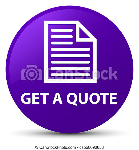 Get a quote (page icon) purple round button - csp50690658
