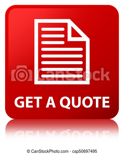 Get a quote (page icon) red square button - csp50697495