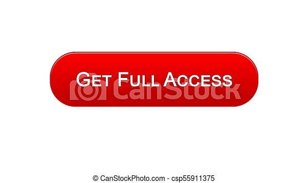 Get full access web interface button red color, online program, subscription - csp55911375