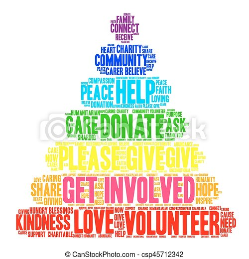 Get Involved Word Cloud - csp45712342