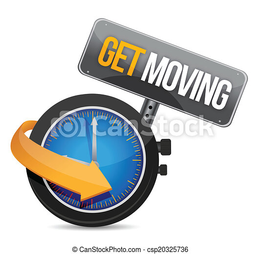 get moving watch sign illustration design - csp20325736