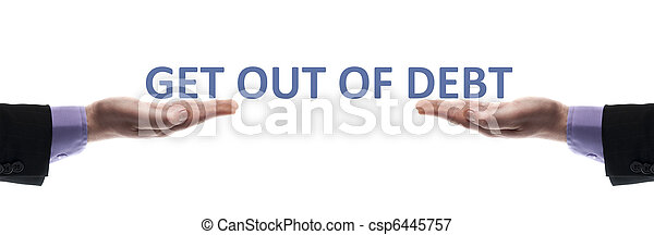 Get out of debt message - csp6445757