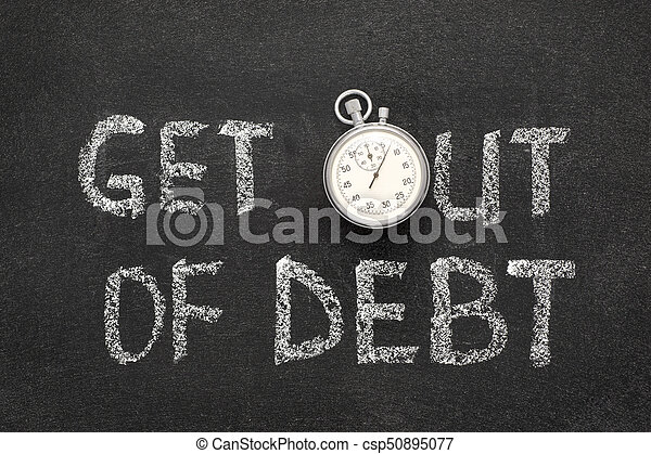 get out of debt - csp50895077