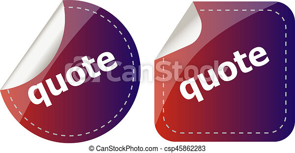 Get quote stickers set isolated on white - csp45862283