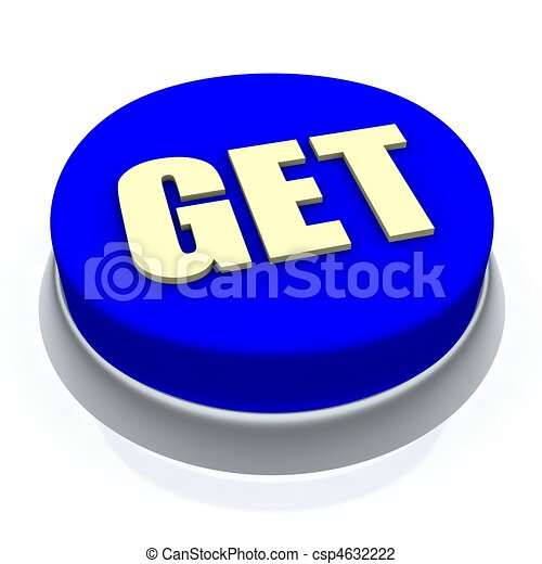 Get round button 3d. Isolated on white. - csp4632222