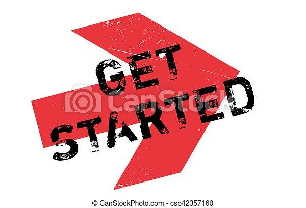 Get started stamp - csp42357160