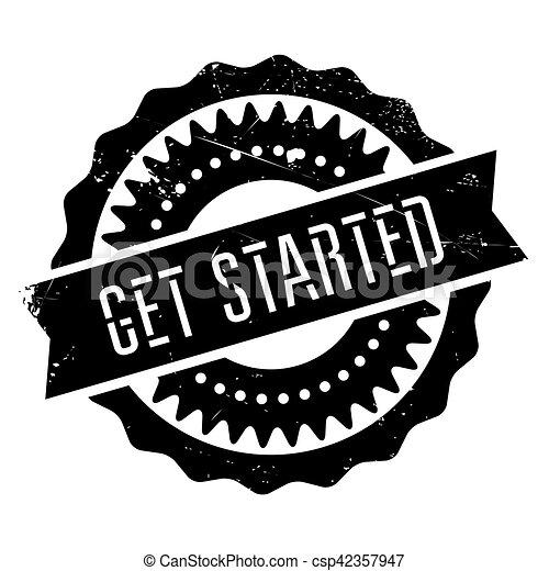Get started stamp - csp42357947