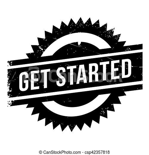 Get started stamp - csp42357818