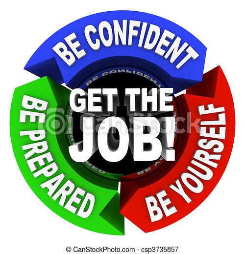 Get the Job - Arrows Diagram - csp3735857