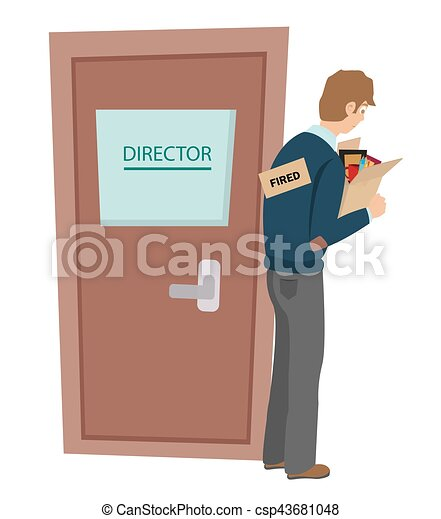getting fired flat vector illustration dismissed loss job - Losing Job Getting Fired From Job