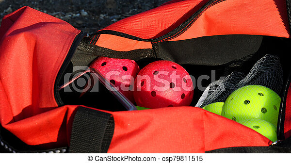 Getting Ready to go Play Pickleball - csp79811515
