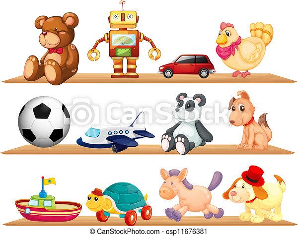 gevarieerd, speelgoed - csp11676381