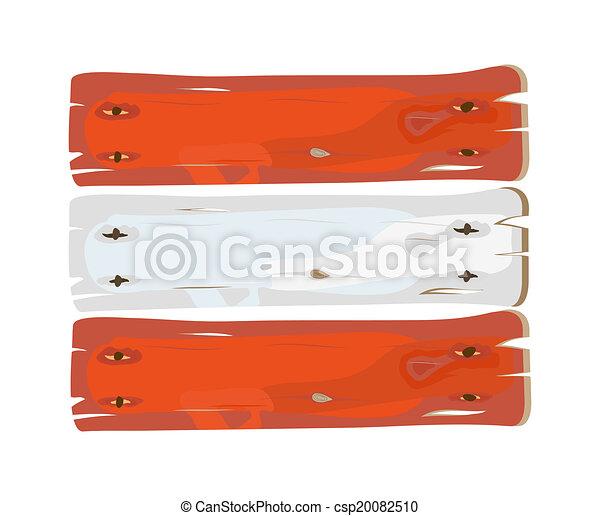 geverfde, oostenrijkse dundoek, hout - csp20082510