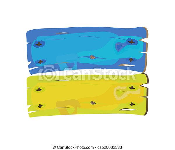 geverfde, ukranian, vlag, hout - csp20082533