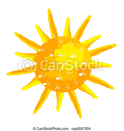 geverfde, zon - csp9247504