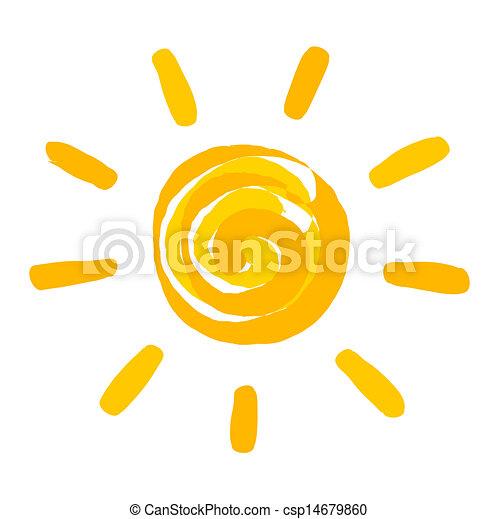 geverfde, zon, illustratie - csp14679860
