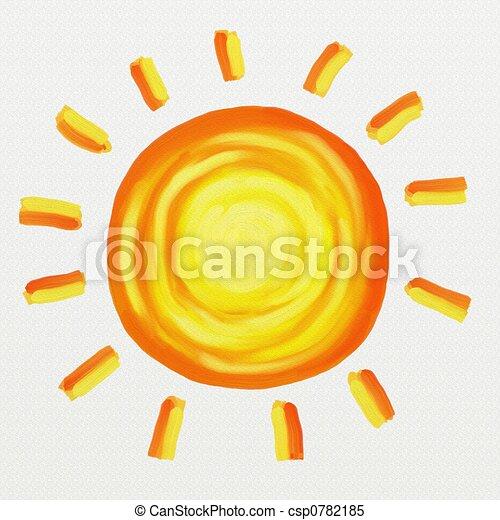 geverfde, zon - csp0782185