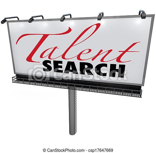gevraagd, vinden, talent, buitenreclame, zoeken, bekwaam, werkmannen , helpen - csp17647669