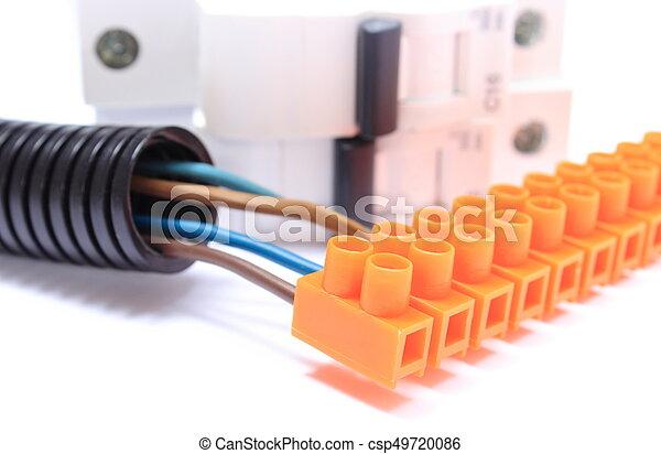 Gewellt, elektrisch, kabel, sicherung, anschluss, pfeife,... Bilder ...