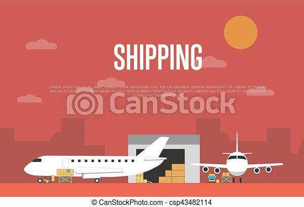 Werbebotschaft für den Lufttransport - csp43482114