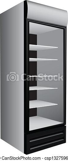 gewerblich, kühlschrank, schaukasten - csp13275962