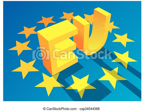 Gewerkschaft, symbole, europäische , hintergrund, nett, 3d.