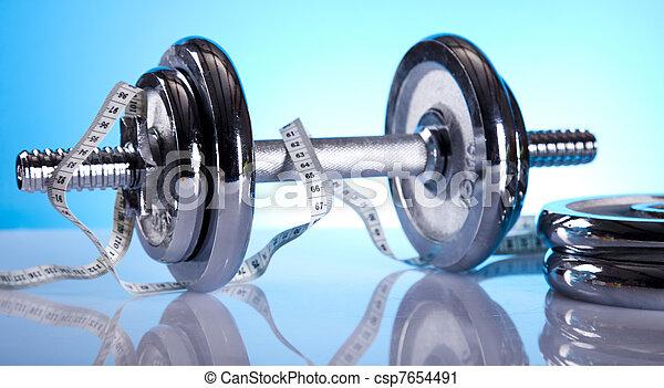 gewicht aderlating, fitness - csp7654491