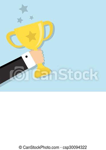Ein Becher für den Gewinner - csp30094322
