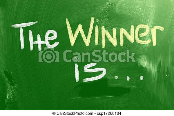 Der Gewinner ist das Konzept - csp17268104