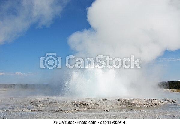 Geyser in Yellowstone national park - csp41983914