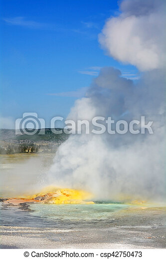 Geyser in Yellowstone national park - csp42750473