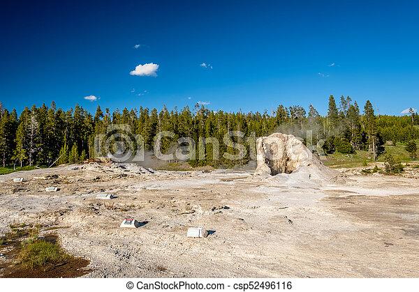 Geyser in Yellowstone National Park - csp52496116