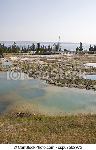 Geyser in Yellowstone National Park - csp67582972