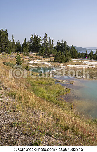 Geyser in Yellowstone National Park - csp67582945
