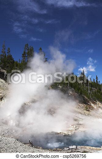 Geyser in Yellowstone Park - csp5269756
