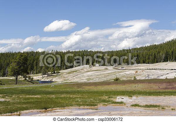 Geyser in Yellowstone - csp33006172