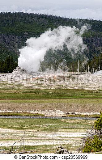 Geyser in Yellowstone - csp20569969