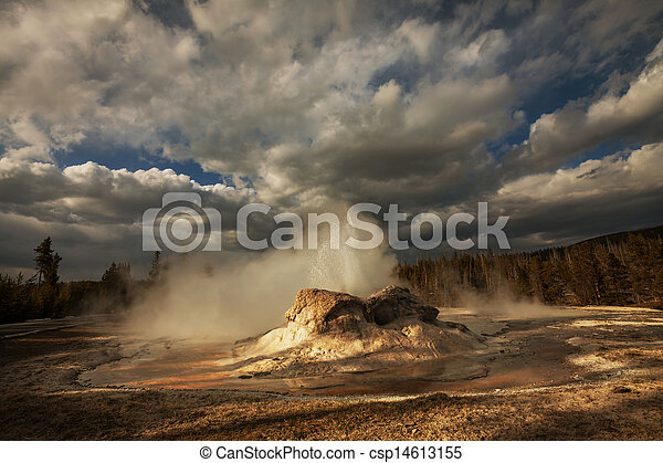 Geyser in Yellowstone - csp14613155