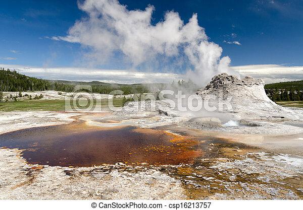 geyser in Yellowstone - csp16213757