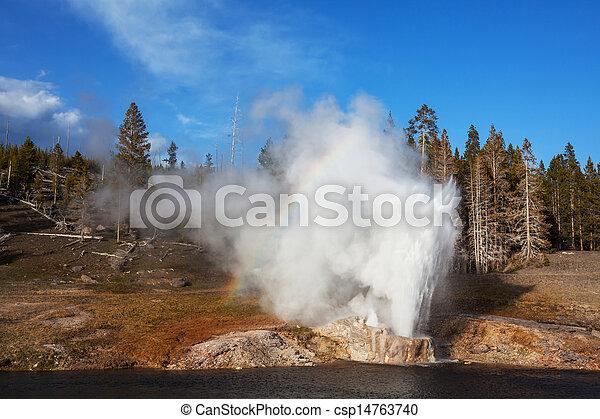 Geyser in Yellowstone - csp14763740