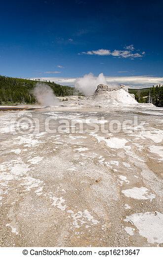 geyser in Yellowstone - csp16213647