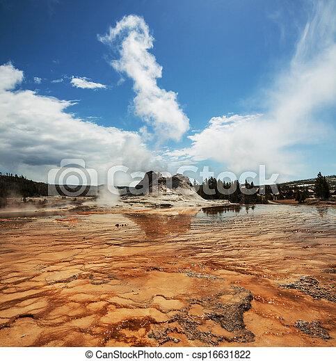 Geyser in Yellowstone - csp16631822