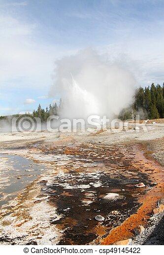 Geyser in Yellowstone - csp49145422