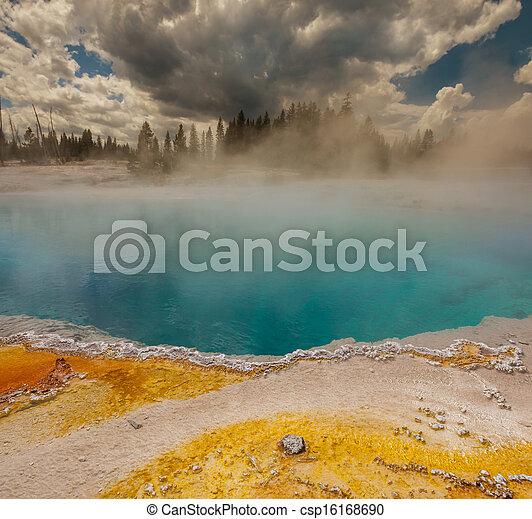 Geyser in Yellowstone - csp16168690
