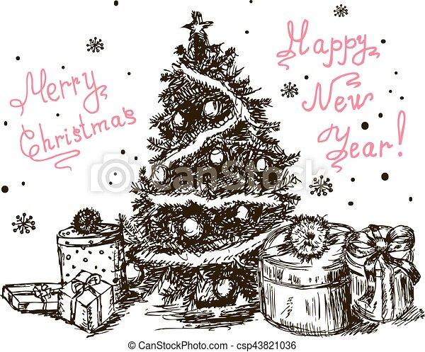Weihnachtsbaum Gezeichnet.Gezeichnet 5 Weihnachtsbaum Hand