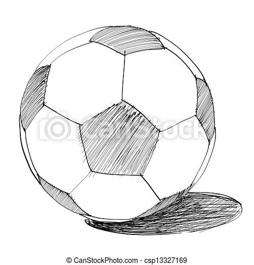 Gezeichnet Fussball Ball Hand Gezeichnet Abstrakt Kugel