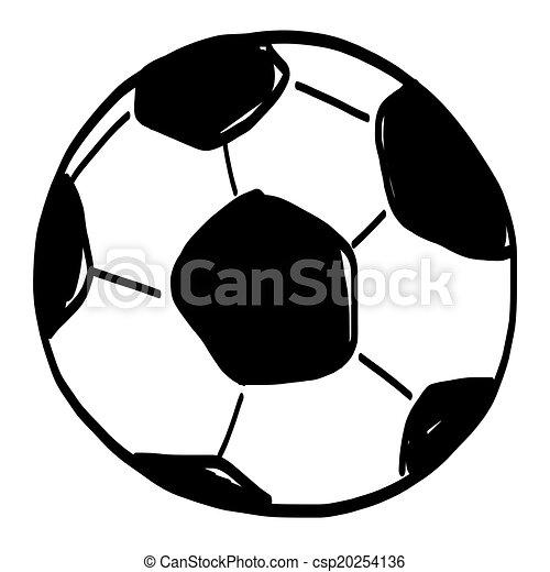 Gezeichnet Fussball Ball Hand