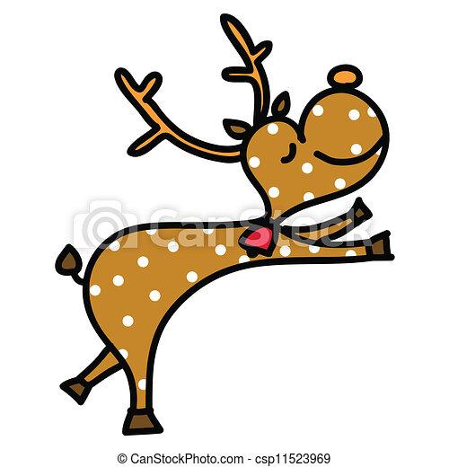 Bilder Rentiere Weihnachten.Gezeichnet Rentier Weihnachten Karikatur Hand
