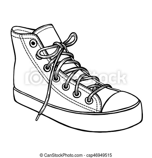 Gezeichnet Skizze Sport Schuhe Hand Skizze Kunst Illustration