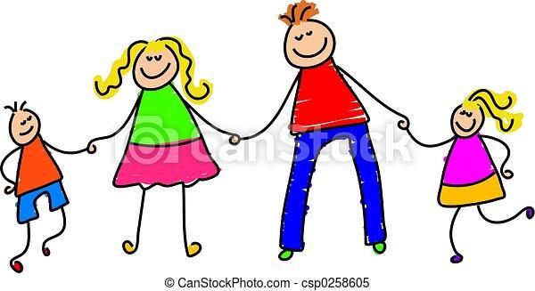 gezin, vrolijke  - csp0258605